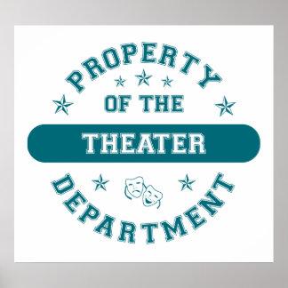 Propiedad del departamento del teatro impresiones