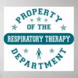 Propiedad del departamento respiratorio de la tera posters