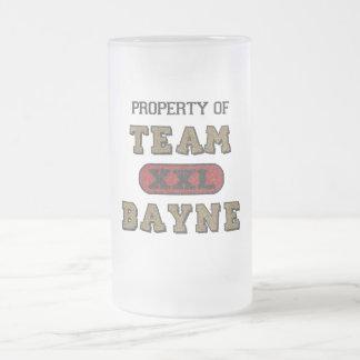 Propiedad del equipo Bayne2 Taza De Cristal
