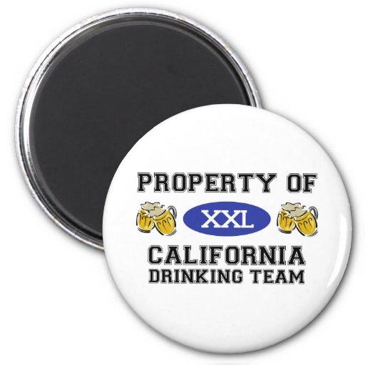 Propiedad del equipo de consumición de California Imán Redondo 5 Cm