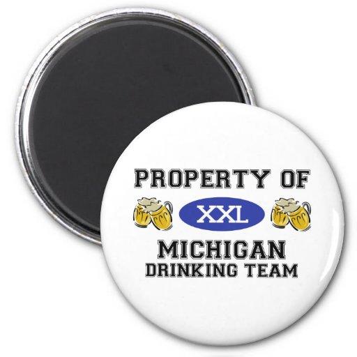 Propiedad del equipo de consumición de Michigan Imán Redondo 5 Cm