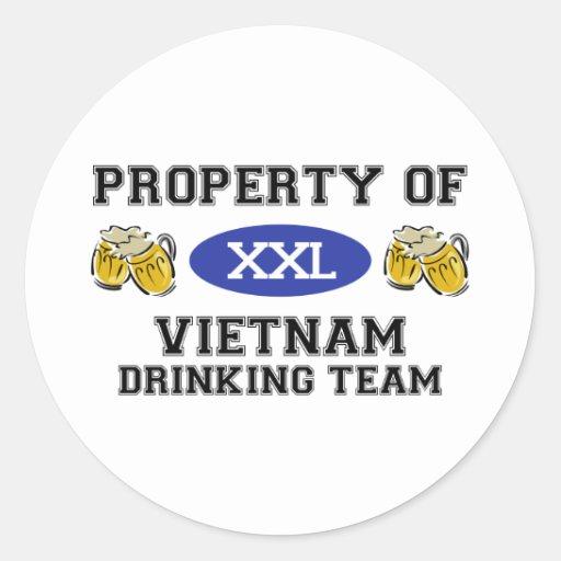 Propiedad del equipo de consumición de Vietnam Pegatina Redonda