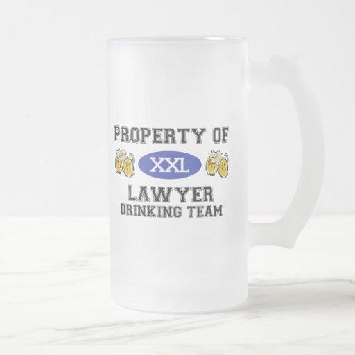 Propiedad del equipo de consumición del abogado taza de cristal