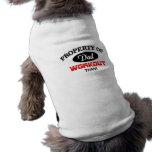 Propiedad del equipo del entrenamiento del papá camisetas de mascota