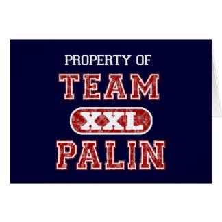 Propiedad del equipo Palin Tarjeta De Felicitación