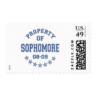 Propiedad del estudiante de segundo año sellos