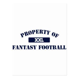 Propiedad del fútbol de la fantasía postal