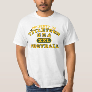 Propiedad del fútbol de Titletown los E.E.U.U. XXL Playera