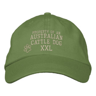 Propiedad del gorra bordado perro australiano del  gorra de beisbol bordada