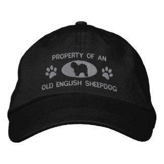 Propiedad del gorra bordado perro pastor inglés vi gorra bordada
