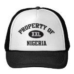 Propiedad del gorra nigeriano