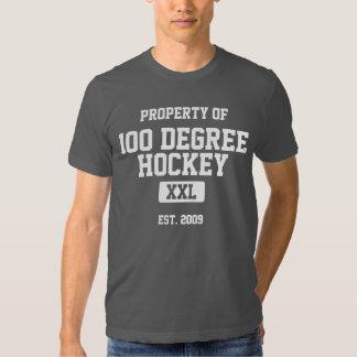 Propiedad del hockey de 100 grados playera