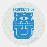 Propiedad del logotipo de MU Etiqueta Redonda