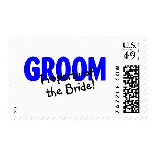 Propiedad del novio de la novia timbres postales