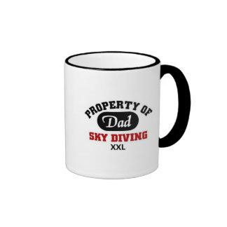 Propiedad del paracaidismo del papá tazas de café