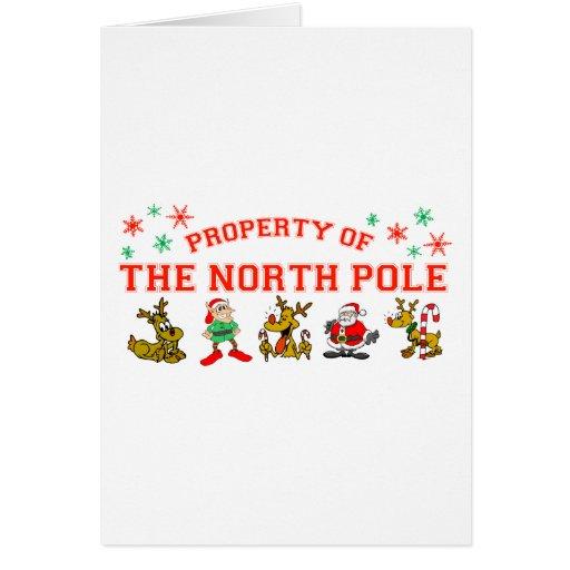 Propiedad del Polo Norte Felicitación