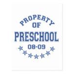 Propiedad del preescolar tarjeta postal