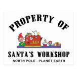 Propiedad del regalo del taller de Santa