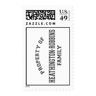 Propiedad… del sello postal de los E.E.U.U.