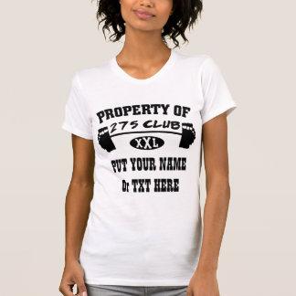 Propiedad del tanque/de la camiseta de 275 señoras