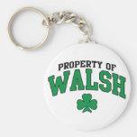Propiedad del trébol de Walsh Llaveros Personalizados