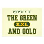 Propiedad del verde y del Gold1 Invitación