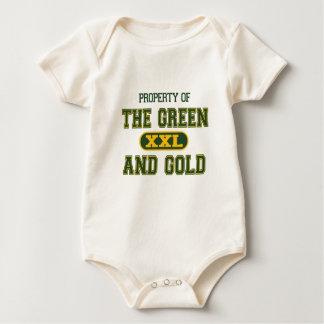Propiedad del verde y del Gold1 Traje De Bebé
