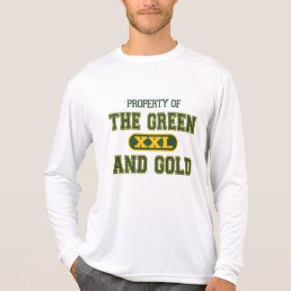 Propiedad del verde y del Gold1 T-shirts