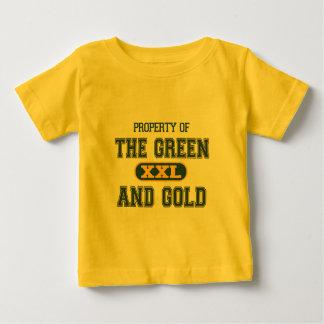 Propiedad del verde y del Gold1 Playeras