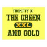 Propiedad del verde y del Gold1 Postal