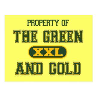 Propiedad del verde y del Gold1 Tarjetas Postales