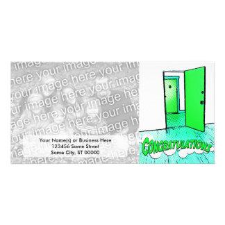 propiedad horizontal cómica de la enhorabuena tarjetas fotograficas personalizadas