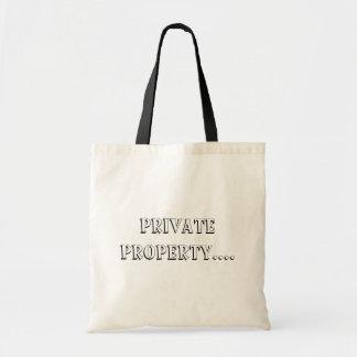 Propiedad privada ..... bolsa tela barata