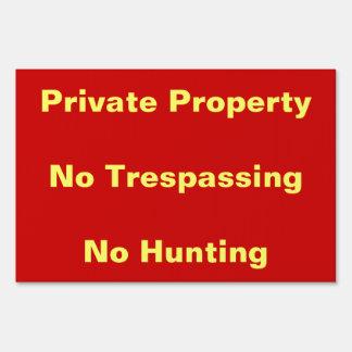 Propiedad privada ninguna muestra de violación de