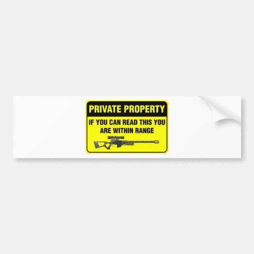 Propiedad privada pegatina para auto
