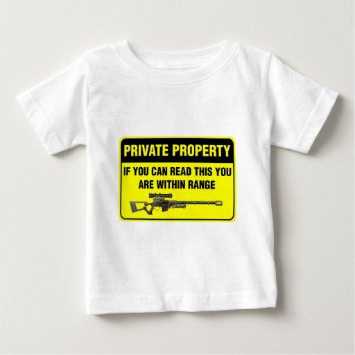 Propiedad privada playera de bebé