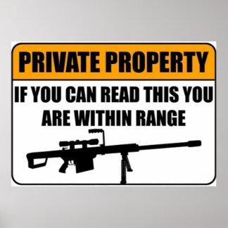 Propiedad privada - si usted puede leer esto… poster