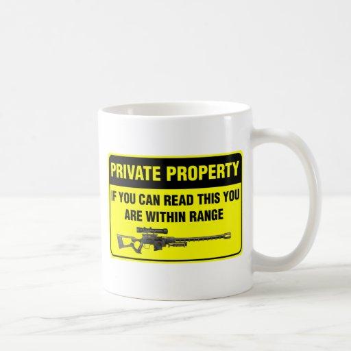 Propiedad privada taza de café