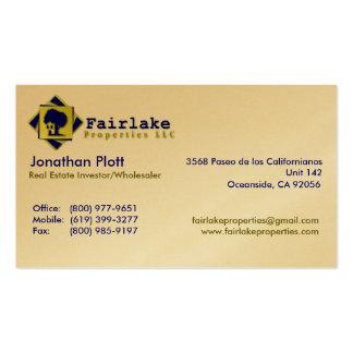 Propiedades de Fairlake: Profesional Tarjeta De Visita