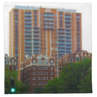 Propiedades horizontales a lo largo de la plaza kc servilleta de papel