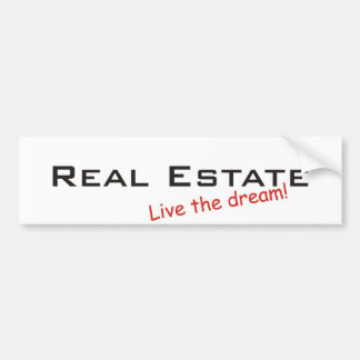 Propiedades ideales/inmobiliarias pegatina de parachoque