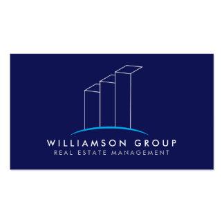 Propiedades inmobiliarias, arquitecto, logotipo tarjetas de visita