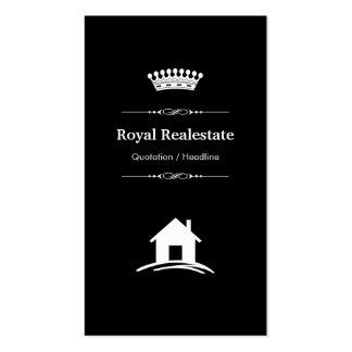 Propiedades inmobiliarias - blanco negro moderno tarjetas de visita