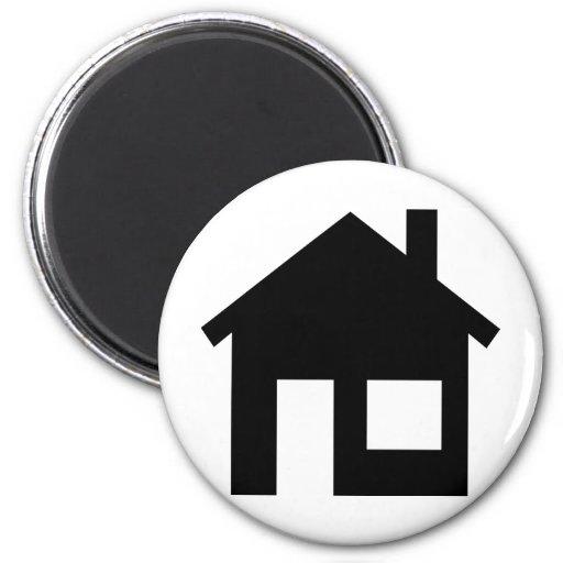 Propiedades inmobiliarias caseras imán de frigorífico