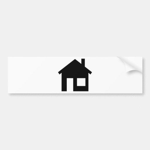 Propiedades inmobiliarias caseras pegatina para auto