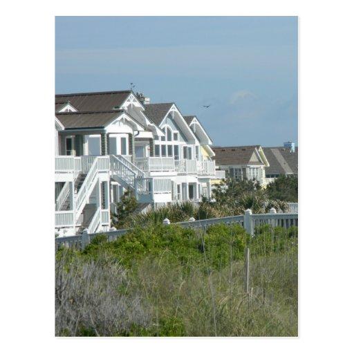 Propiedades inmobiliarias de la casa de playa tarjetas postales