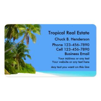 Propiedades inmobiliarias de la playa tarjetas de visita