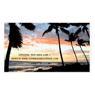Propiedades inmobiliarias de la playa tropical de tarjetas de visita