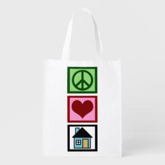 Propiedades inmobiliarias del amor de la paz bolsa para la compra