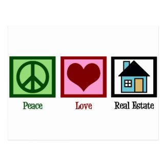 Propiedades inmobiliarias del amor de la paz postal